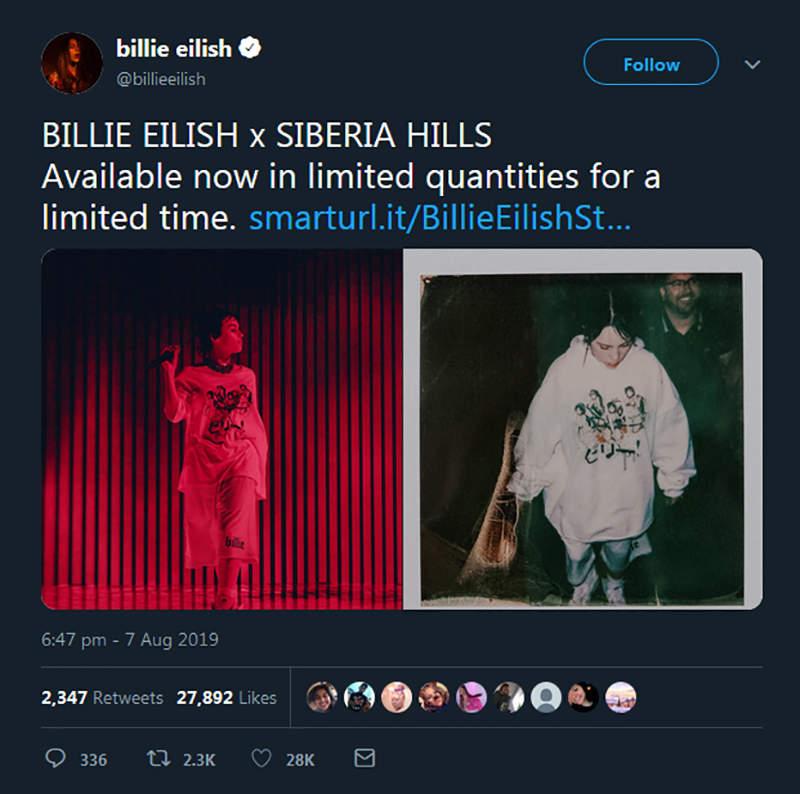 《美国潮牌盗用日本绘师》比莉艾莉许联名商品惹祸 改个颜色逃不过动画迷的法眼……