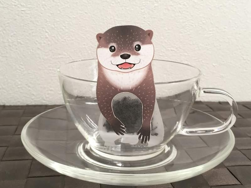 这我还不喝爆《水獭茶包》每天teatime都好想被它萌萌的盯着看^ω^