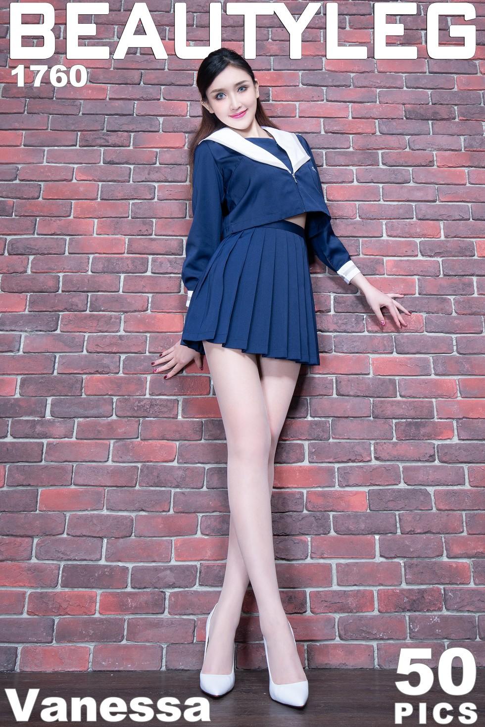 模特Vanessa妹子性感紫色内衣配吊带黑丝惹火诱惑无圣光写真50P