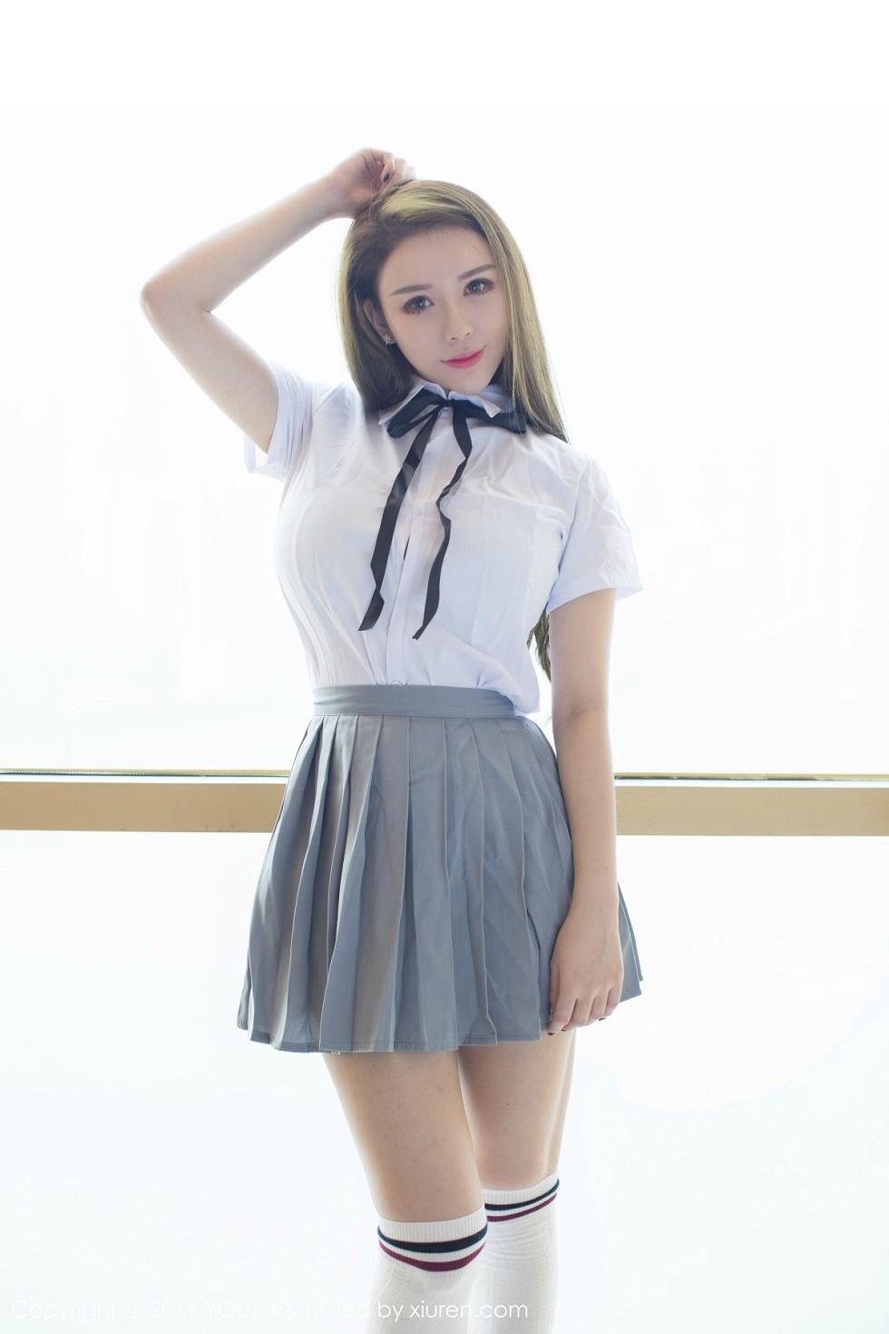 女神Egg_尤妮丝清纯学生装上演SM情趣露翘臀惹火诱惑无圣光写真42P
