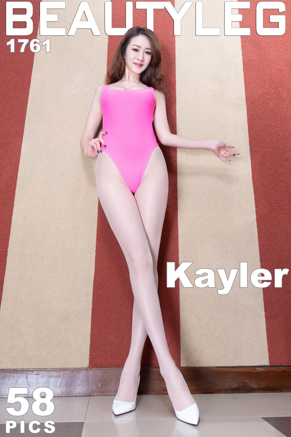 模特Kaylar妹子性感红色高叉连体内衣配肉丝裤袜诱惑无圣光写真48P