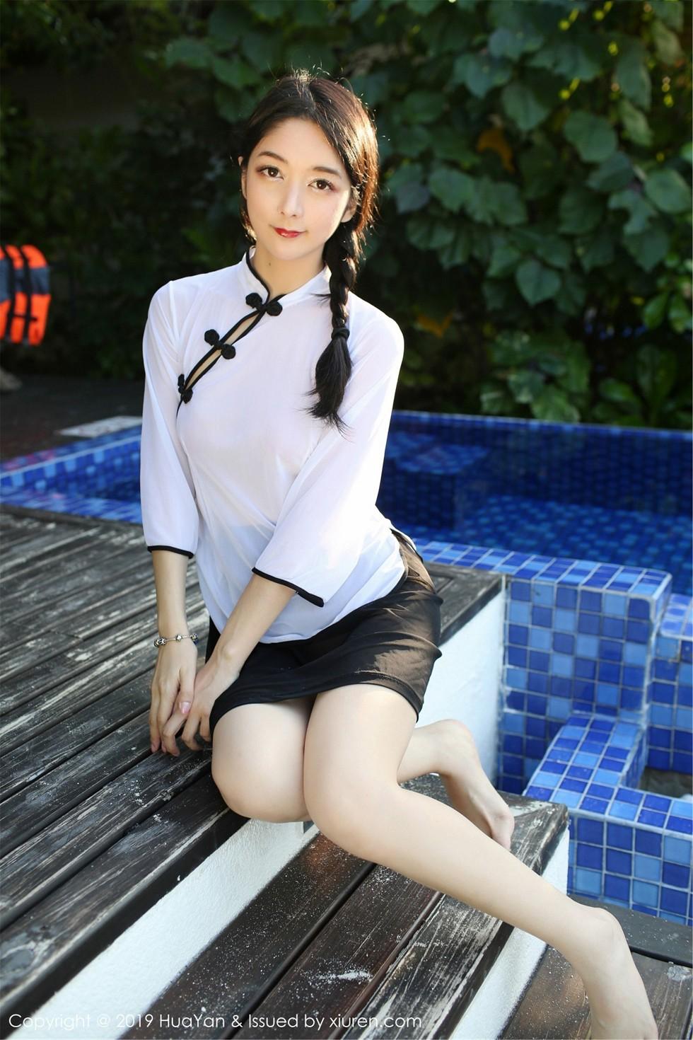 嫩模Angela喜欢猫私房古典透视旗袍+运动服完美诱惑无圣光写真41P