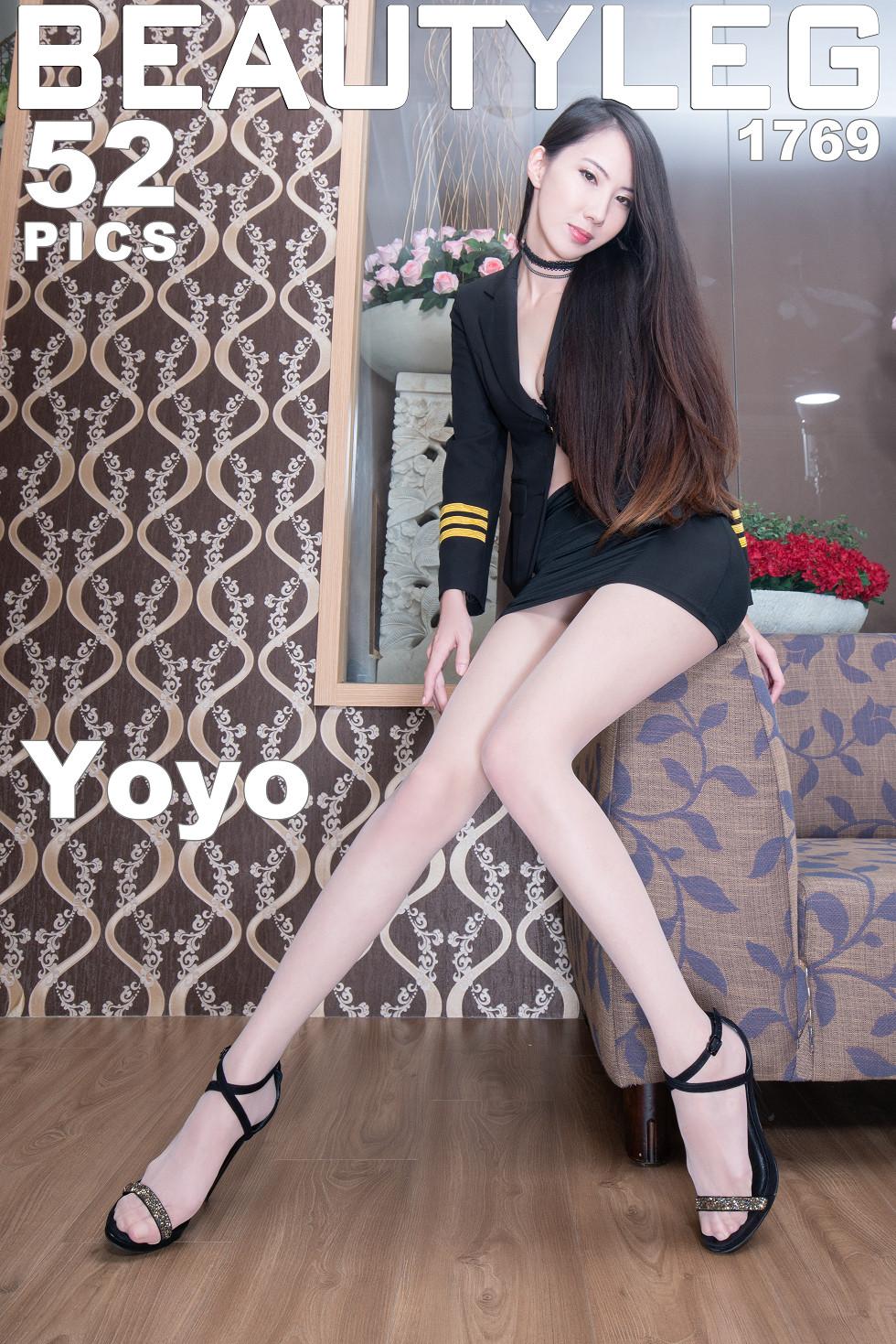 模特Yoyo妹子私房性感白色内衣配白丝袜秀迷人美腿诱惑无圣光写真46P